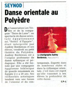 danse orientale polyèdre, dauphiné, seynod, audrey bordereau