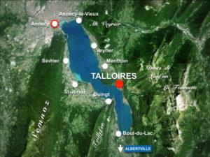 carte annecy, lac, montagne, stage été danse orientale égypienne talloires, audrey bordereau