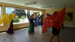 voile, danse orientale egyptienne, danse, annecy, talloires, percussionniste