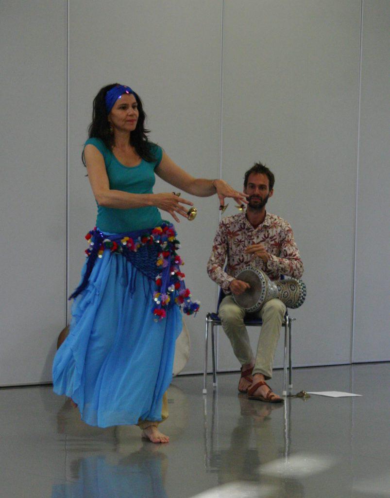 danseuse, musicien, percussion, sagattes, abdanse, audrey bordereau